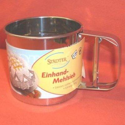 Einhand-Mehlsieb Edelstahl