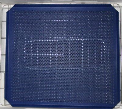 Lochblech beidseitig spezialbeschichtet 340 mm breit 310mm tief