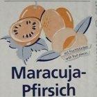 Maracuja-Pfirsich Sahnestand Sahnefest Sahne Fond